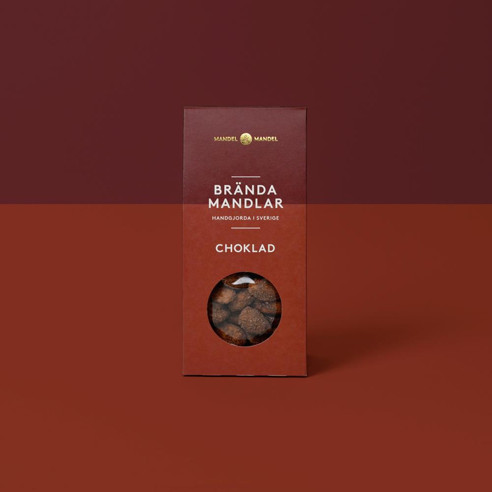 Brända mandlar choklad