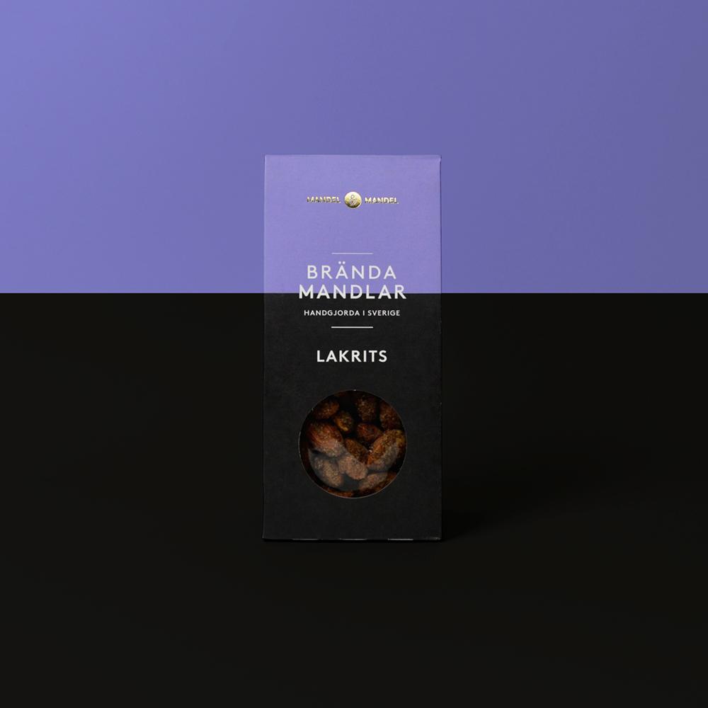Brända mandlar lakrits