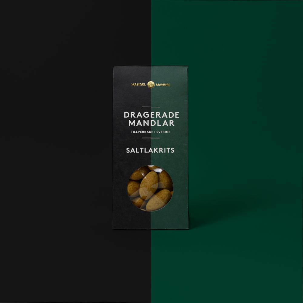 Dragerade mandlar saltlakrits